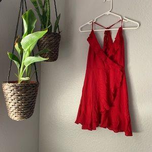 Dresses & Skirts - Red wrap dress
